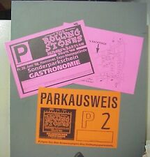 Rolling Stones unused parking tickets GERMANY - 2 Bridges to Babylon AUTHENTIC !
