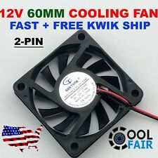 60mm 10mm 12V Cooling Case Fan 6010 PC Computer CPU 6cm 60x60x10mm 2-Pin