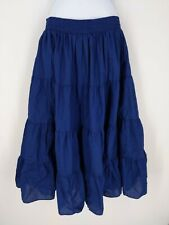 Vintage Square Up Fashions Prairie Square Dance Skirt Navy Blue Made in USA M