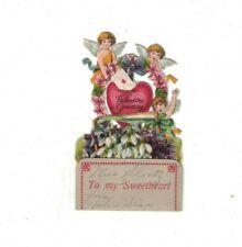 Cherub Angels Valentine's Greetings Vintage Stand-Up Valentine's Day Card