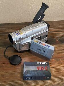 JVC VHS-C Camcorder Camera GR-SXM250U Super VHS And New Tape Only