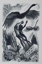 NUDE COUPLE & SWAN, SWANS By Blair Hughes-Stanton Vintage Print C1933