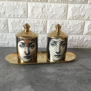 Candle Holder DIY Handmade Candles Jar Retro Lina Face Vintage Art Home Decor