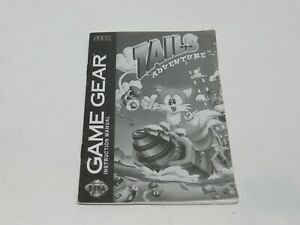 Tails Adventure Sega Game Gear Game Manual Booklet Instructions