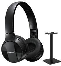 Pioneer SE-MJ553BT-K On-Ear Bluetooth Stereo Headphone + Headphone Stand (Black)