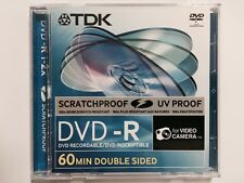 10 Discs TDK Scratchproof 8cm Mini 2x DVD-R 2.8GB Double sided 60 MIN Camcorders