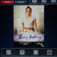 TOPPS STAR WARS DIGITAL CARD TRADER - Rise Of Skywalker Rey Signature White