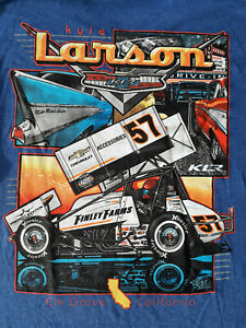 "SPRINT CAR -  KYLE LARSON -  2019 T-SHIRT - ""57 CHEVY"" -  LARGE"