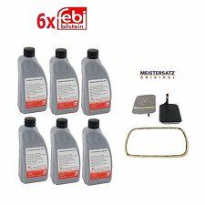 For 6-Quarts Fluid & Meistersatz Transmission Filter Kit For BMW w/ A5S Trans