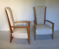 belle paire de fauteuils neoclassique Art Deco vers 1940 en Sicomore ARBUS