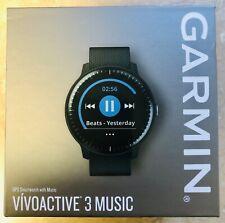 GARMIN vívoactive® 3 Music GPS Watch Black with Silver Hardware - Factory Sealed