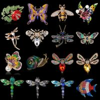 Crystal Insect Animal butterfly Bee Women Brooch Pin Costume Breastpin Jewelry