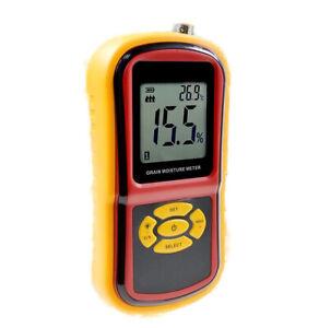 TECHTONGDA Grain Moisture Tester Temperature & Humidity Detector Meter