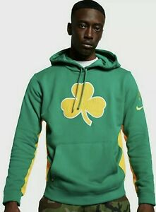 Nike NBA Boston Celtics Earned Edition Courtside Mens Hoodie Clover Size S Small