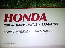 Honda 250 and 360 CC Twins Manua - 1974 to 1977