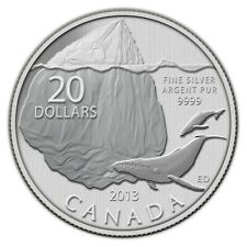 Canada 2013 $20 for $20 0.9999 pure Fine Silver Coin - Iceberg and Whale
