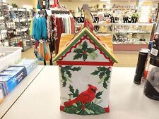 Lenox Deorative Figurine Cookie Jar ~ Winter Greeting ~ Birdhouse ~ Awesome L1