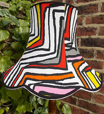 Vintage lampshade yellow black red white pink for standard lamp or ceiling lamp