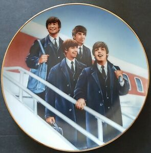 """The Beatles """"Hello America"""" Limited Edition Collectors Plate By Delphi"""