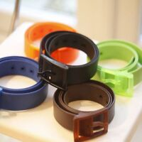 Plastic Buckle Waist Belt Strap Silicone Belt Belts Casual Belts Waistband