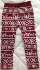 Berry & White SNOWFLAKE& REINDEER  LEGGINGS by ONE STEP UP Size OS 4/6x NWT