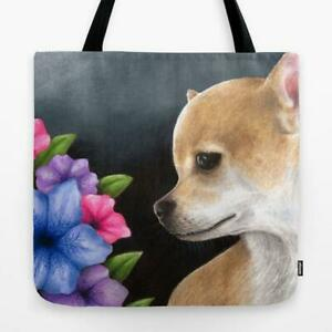 Tote Bag All over print Dog 77 Chihuahua art painting by L.Dumas