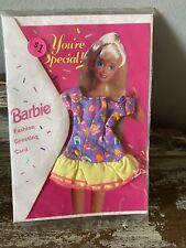 Nos Barbie 1995 Fashion Greeting Card Happy Birthday - Last One