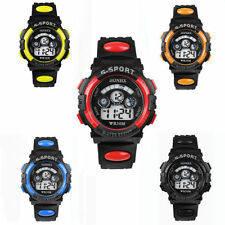Silicone/Rubber Case Digital Unisex Wristwatches