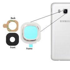 Para Samsung Galaxy J5 2016 Back Cámara Vaso Lente Frame Cubrir + Adhesivo Plata