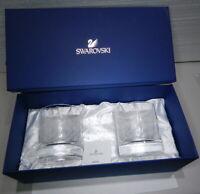 "2 NIB Swarovski Crystal 3"" Highball Whiskey Tumblers Glasses L.E. New USA Seller"