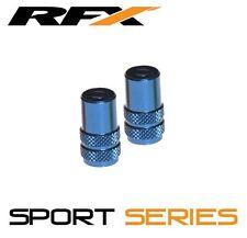 RFX Sport Series Valve Caps & Valve Key 2pcs BLUE SUZUKI RM65 RM85 RM125 RM250