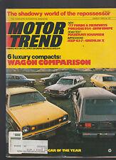 Motor Trend Magazine March 1976 Maserati Porsche Jeep BMW Ford