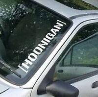 HOONIGAN Novelty Vinyl Car Back Window Bumper Sticker Decal Drift LARGE
