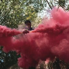 Dual Vent Burst Style Pink Smoke Grenade Airsoft Paintball Photography