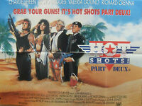Charlie Sheen Lloyd Bridges HOT SHOTS Part Deux(1993) Original quad movie poster