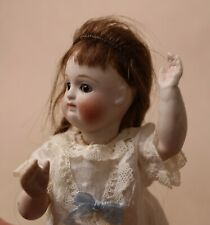 Antique bisque porcelain eyes open shut doll Germany early 20th 7 inch18cm