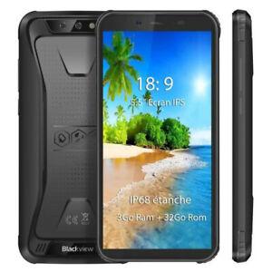 5.5 Blackview BV5500 Plus 3GB+32GB Smartphone IP68 étanche 4G téléphone portable