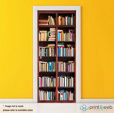 Vinyl Door Wrap Decal Sticker Self Adhesive Book Shelf Art Bedroom