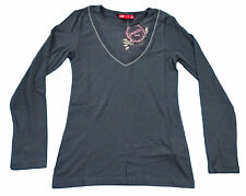 ** PUMA Mädchen Kinder Langarmshirt Longsleeve Pullover anthrazit Gr. 152**