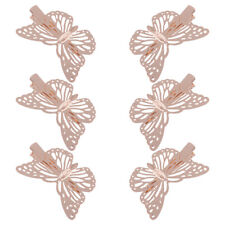 6pcs Women Butterfly Brideal Gold Hair Clips for Wedding Party