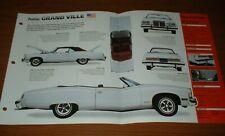 ★★ 1974 Pontiac Grand Ville Convertible Foglio Brochure Informazioni Grandville