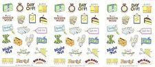 3 Sheets VINTAGE Hallmark 1984 Calendar Reminder Don't Forget! Stickers!