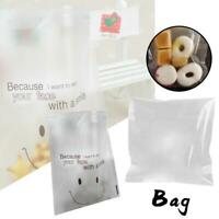 100* Candy Plastic Cookie Bags Self-adhesive Smile Face Baking Packaging Party v