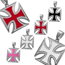 1 Anhänger Eisernes Kreuz Kettenanhänger Iron Cross Halskette Panzerkette Biker