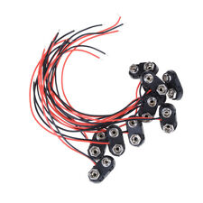 10X Brand New 9V Battery Snap Connector clip Lead Wires holder T Type UK