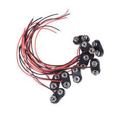 5PCS PP3 9V 9volt Battery Holder Clip Snap On Connector Cable Lead Black #0023