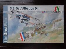 S.E. 5a / ALBATROS D.III (2 PLANES ONE BOX) THE GREAT WAR ITALERI 1/72 OPEN BOX