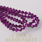 New Arrival 200pcs 3mm Faceted Bicone Loose Spacer Glass Beads Deep Purple