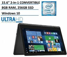 Dell Inspiron 15 7000 7568 CONVERTIBLE Tablet Notebook PC Computer 4k 256GB SSD