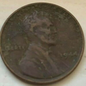 US 1944 P Lincoln Head Wheat Penny one cent Circulated Coin  (#D65)